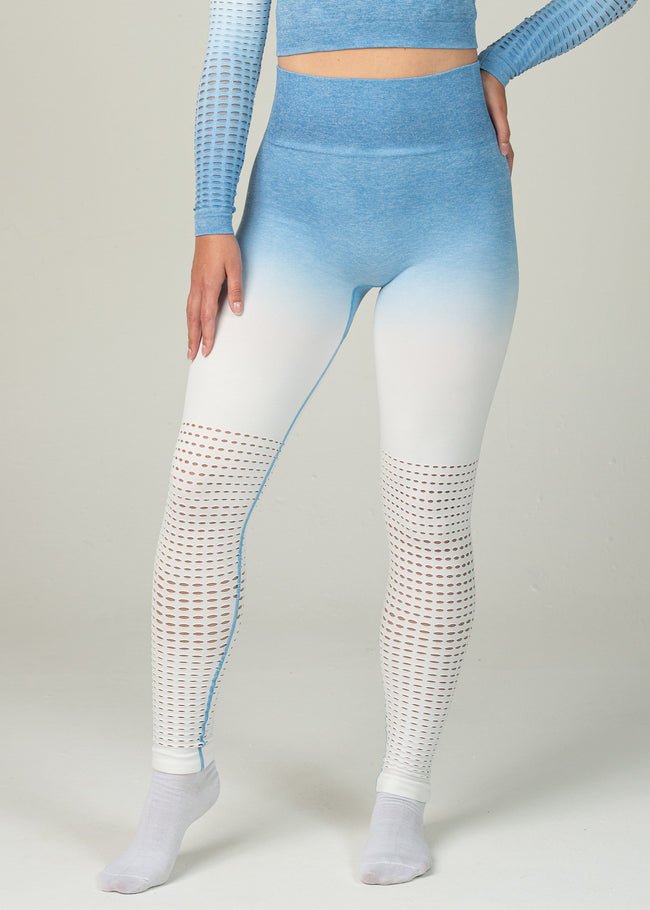 Seamless Conquest Leggings - Sweat Industry Apparel Blue Ombre Front
