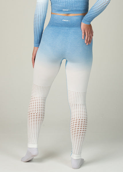 Seamless Conquest Leggings - Sweat Industry Apparel Blue Ombre Back