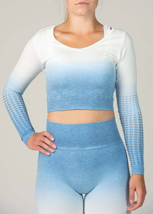 Seamless Conquest Top - Sweat Industry Apparel Blue Ombre Front