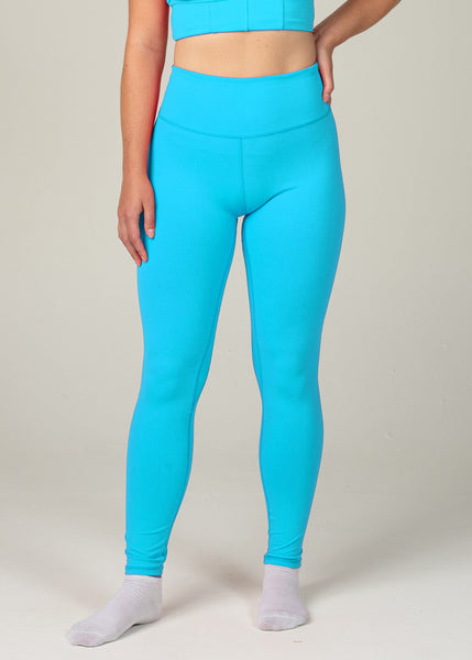 Essential Leggings - Sweat Industry Apparel Cyan Front