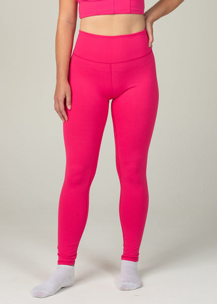 Essential Leggings - Sweat Industry Apparel Hot Pink Front