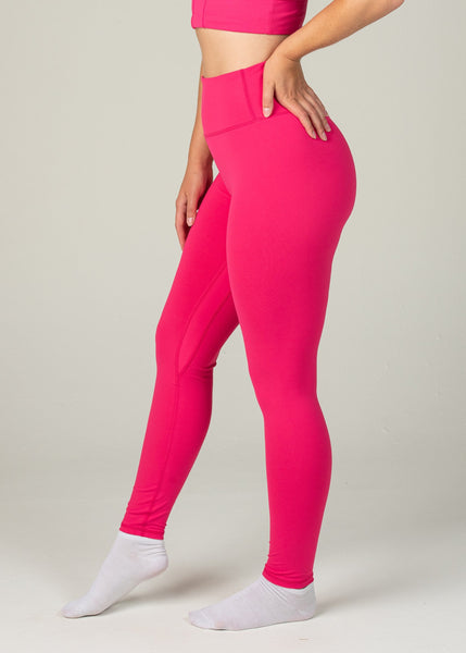 Essential Leggings - Sweat Industry Apparel Hot Pink Side