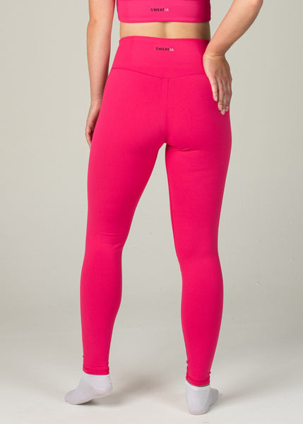Essential Leggings - Sweat Industry Apparel Hot Pink Back