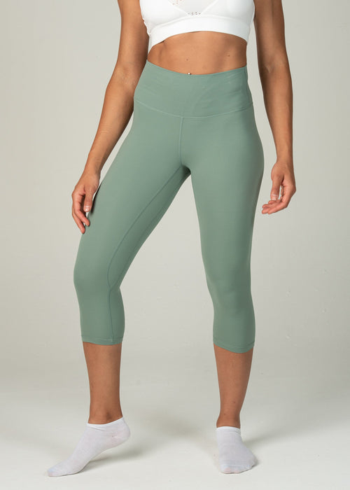 Astral Capri Leggings - Sweat Industry Apparel Sea Green Front