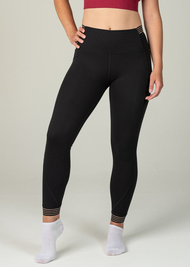 Victory Leggings - Sweat Industry Apparel Black Front