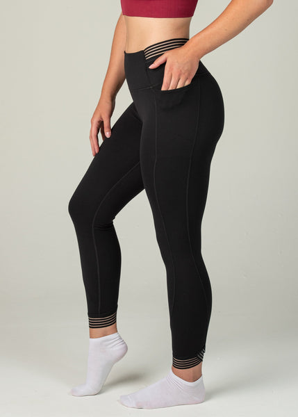 Victory Leggings - Sweat Industry Apparel Black Side