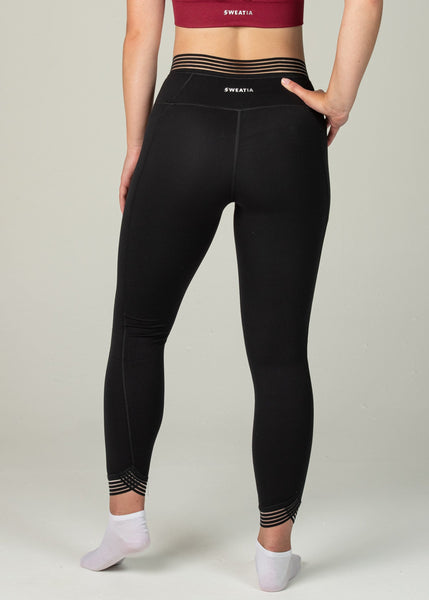 Victory Leggings - Sweat Industry Apparel Black Back