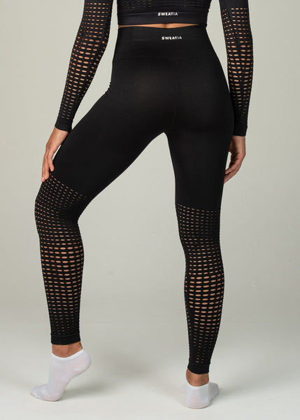 Seamless Conquest Leggings - Sweat Industry Apparel Black Back
