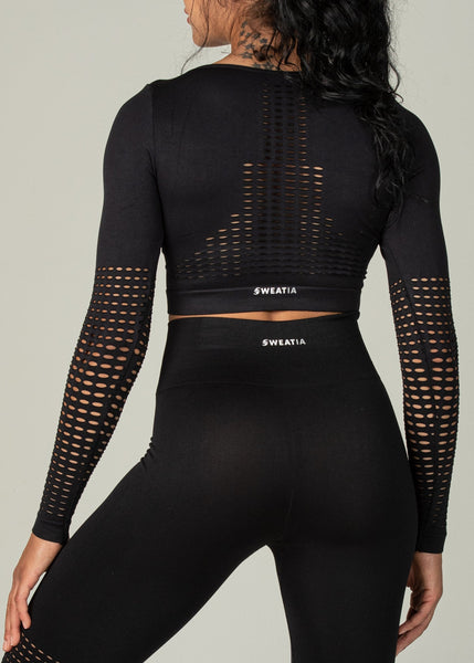 Seamless Conquest Top - Sweat Industry Apparel Black Back