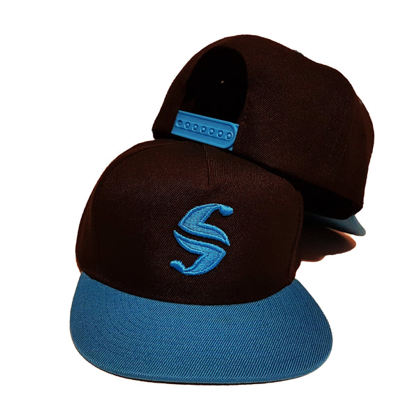 Classic Snap Back - Sweat Industry Apparel Black/Turquoise Front