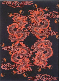 Red Chinese Dragon Tapestry