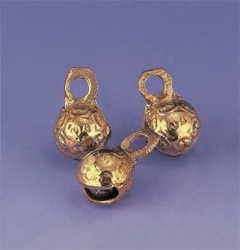 "3/4"" H Polished Brass Round Mini Bells (Dozen)"
