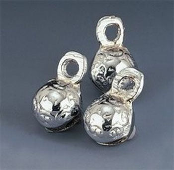 "3/4"" H Chrome Plated Round Mini Bells (Per Dozen)"