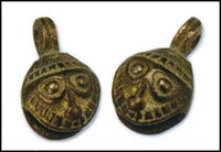"1"" H Antique Brass Round Mini Bells"