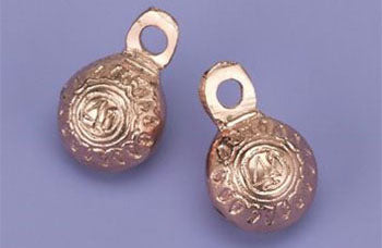 "1.25"" H Copper Plated Brass Bells (Per Dozen)"