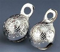 "1"" H Chrome Plated Round Brass Bells (Per Dozen)"
