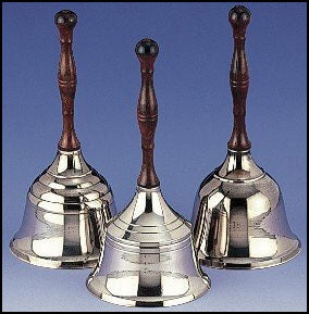 Chrome Plated Hand Bell
