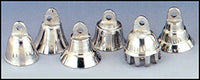 "7/8"" Chrome Brass Bells Assorted"