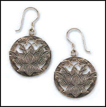 Carved Lotus Earrings