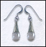 Crystal Drop Wave Earrings