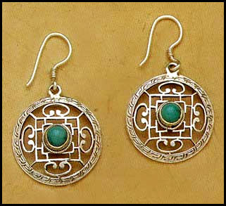 Turquoise Mandala Earrings