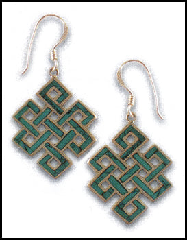 Turquoise Eternal Knot Earrings