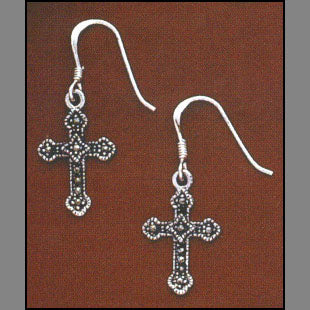 Trinity Cross Earrings