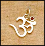 Om Pendant with Ruby