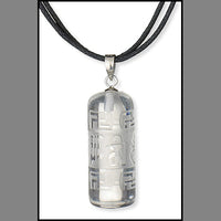 Quartz Prayer Scroll Pendant