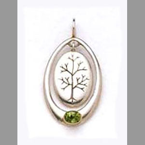Tree of Life Pendant w/ Peridot