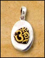 Oval Om Pendant
