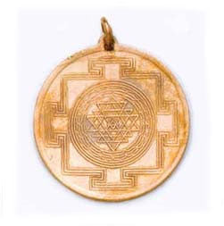 Shree Yantra Copper Pendant