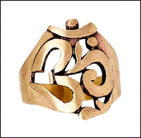 Bronze Cutout Om Ring