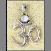 Mother of Pearl Om Pendant