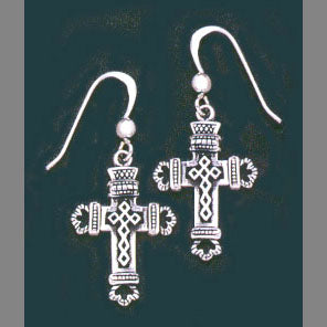 Tapestry Cross Earrings