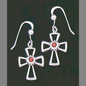Crusader Cross Earrings