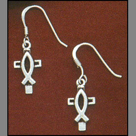 Savior Cross Earrings