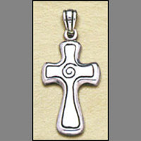 Spiral Cross Pendant