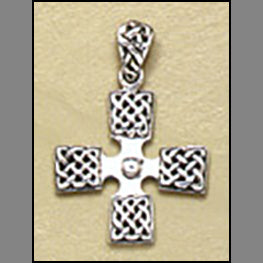 Square Knot Cross Pendant