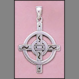 Celtic Halo Cross Pendant