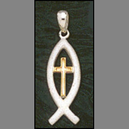 Gold Savior Cross Pendant