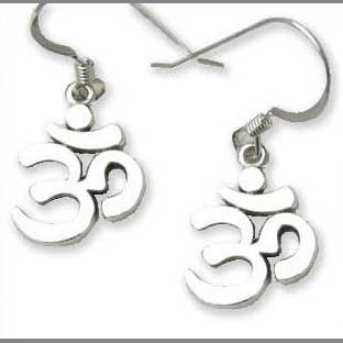 Aum Open Earrings