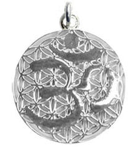 Aum Flower of Life Pendant - Sterling Silver