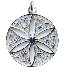 Open Flower of Life Pendant - Sterling Silver