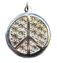 Peace Flower of Life Pendant - Sterling Silver