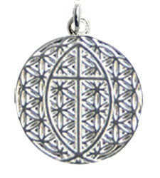 Vesica Pisces Flower of Life Pendant - Sterling Silver