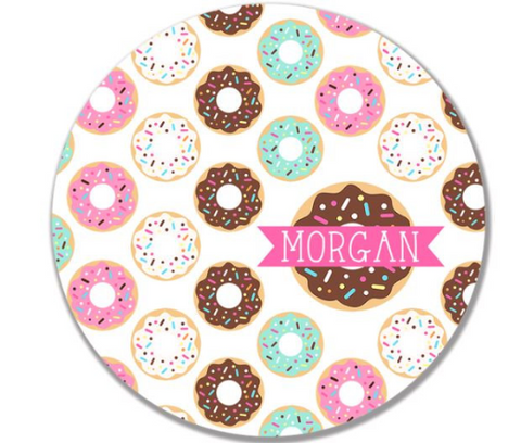 Personalized Kid's Plate - Custom Donut Dish