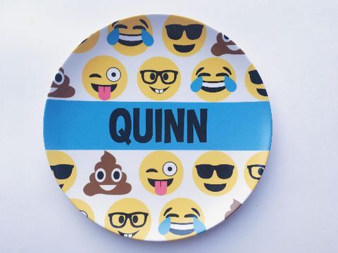 Personalized Kid's Plate - Custom Emoji Dish
