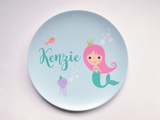 Personalized Kid's Plate - Custom Mermaid Dish