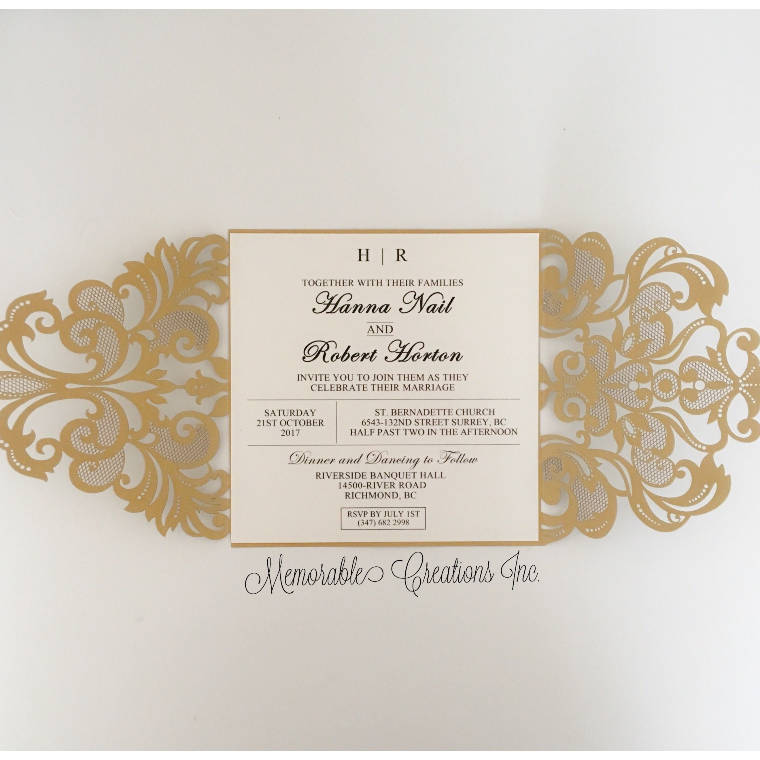 PCC-WED-E-S03 - Wedding Invitation – Memorable Creations Inc.